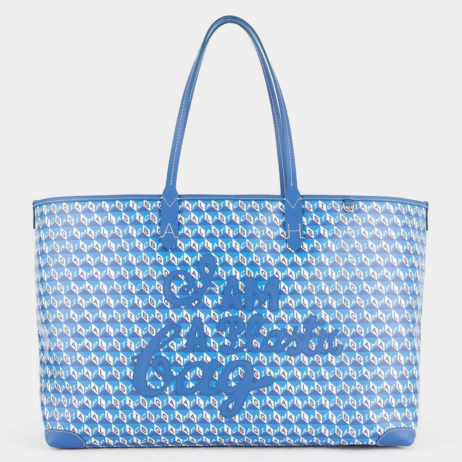 I Am A Plastic Bag Motif Tote