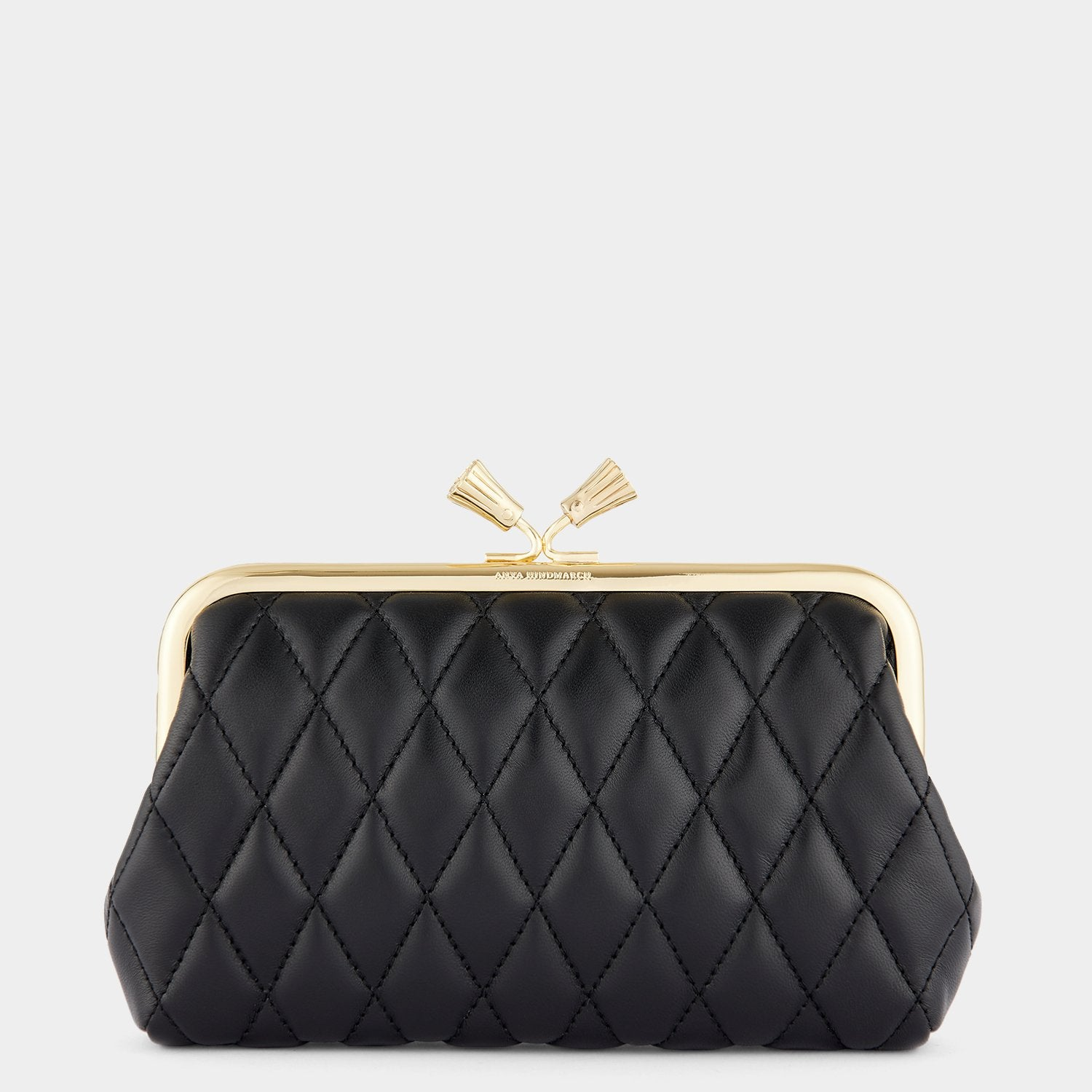 Quilted Maud Tassel Clutch