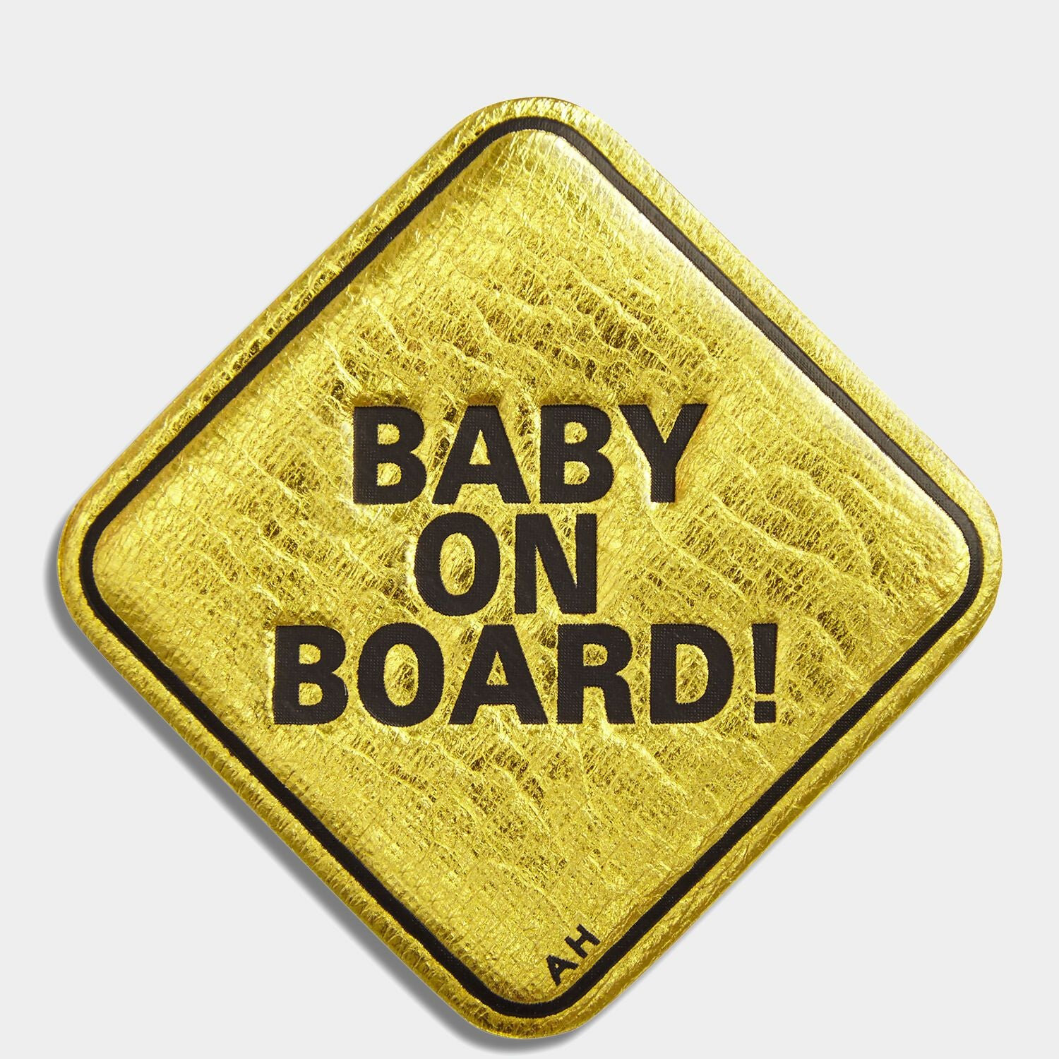 Baby On Board Leather Sticker