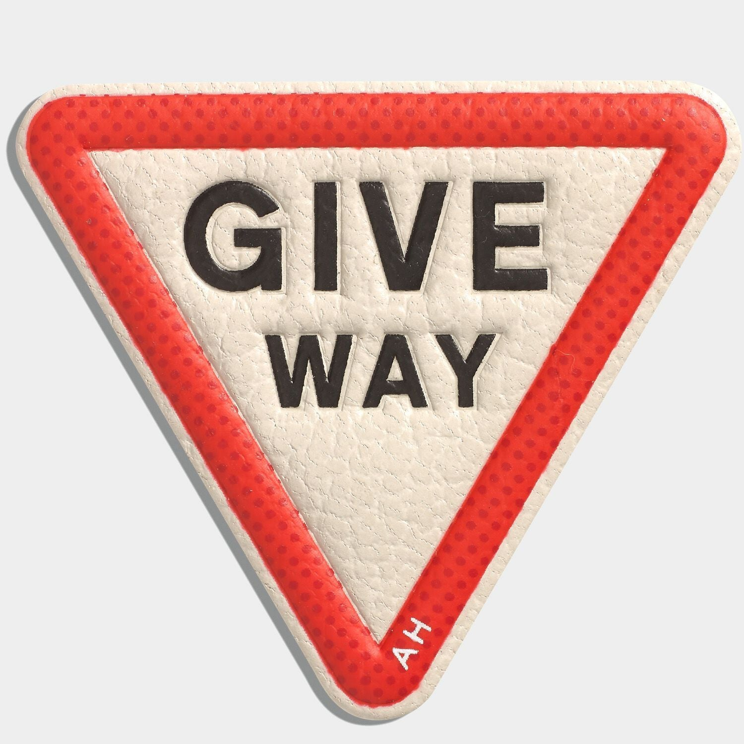 Give Way Leather Stickers