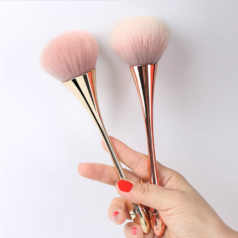 Large Rose Gold Powder Blush Brush