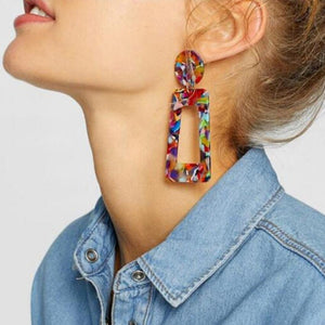 Fashion Tortoise Color Clip Earrings