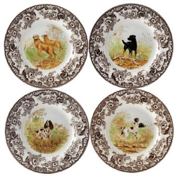 Woodland Hunting Dogs Dinner Plate