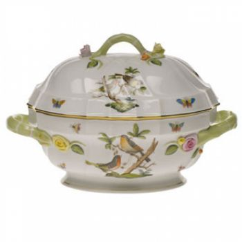 Rothschild Bird Two Quart Tureen with Branch