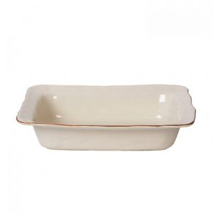 Cantaria Ivory Medium Rectangular Baker