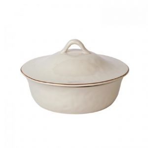 Cantaria Ivory Covered Round Casserole