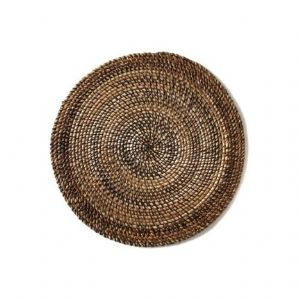 Shaded Rattan Natural Round Placemat Set of Four