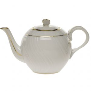Golden Edge Teapot with Butterfly