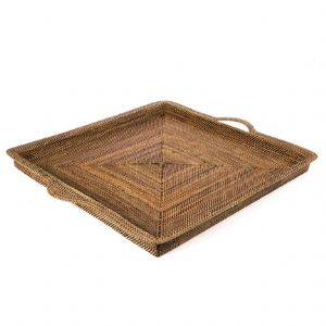 Woven Square Tray with Handles