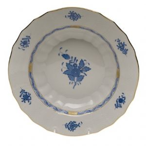 Chinese Bouquet Blue 9.5in Rim Soup