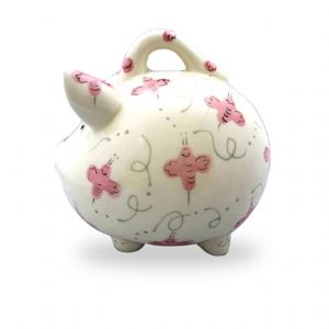 Pink Beez Piggy Bank Large