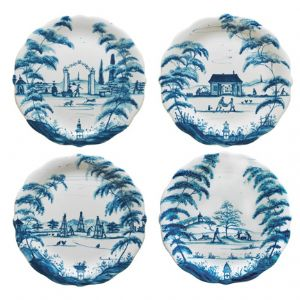 Country Estate Delft Blue Party Plates Set of Four