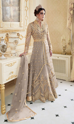 Silver Rani Party wear suits (SEMI STITCHED SUITS)