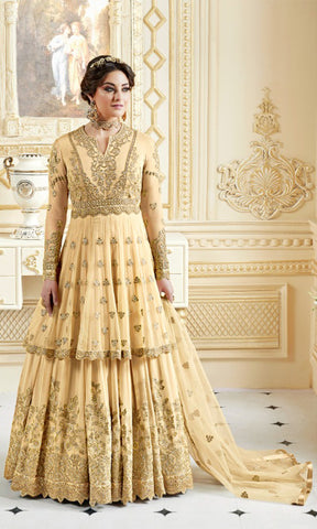 Yellow Rani Party wear suits (SEMI STITCHED SUITS)