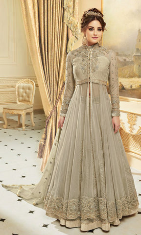 Musk Green Rani Party wear suits (SEMI STITCHED SUITS)