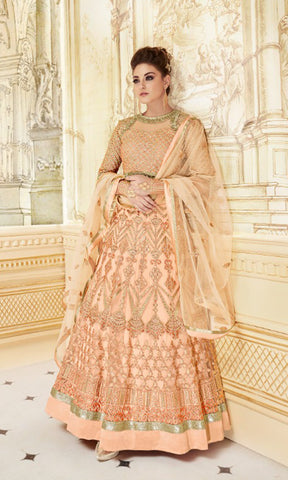 Peach Rani Party wear suits (SEMI STITCHED SUITS)