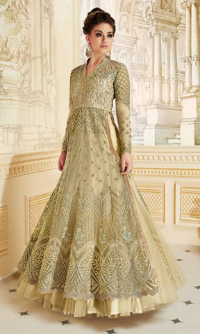 Light Green Rani Party wear suits (SEMI STITCHED SUITS)