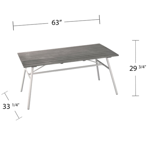 Longino Indoor/Outdoor Rectangular Dining Table