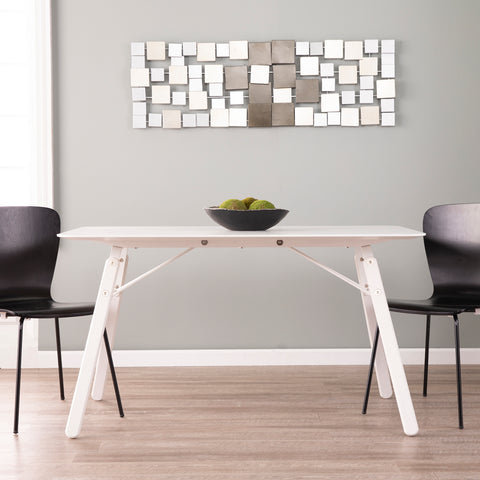 Image of Dinniman Midcentury Modern Dining Table - White