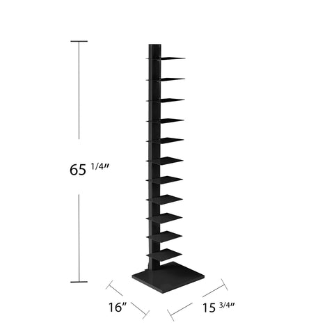 Image of Spine Tower Shelf - Black