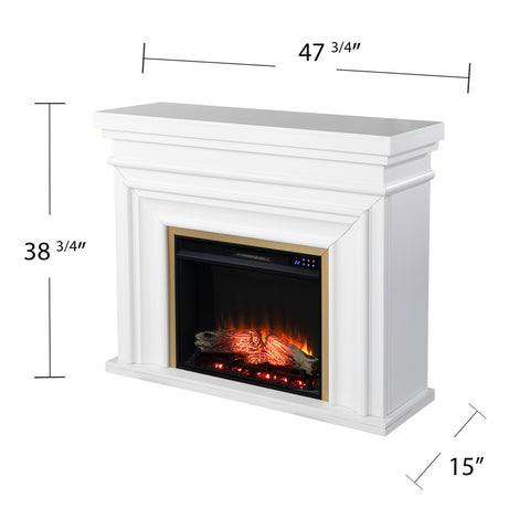 Bevonly White Electric Fireplace