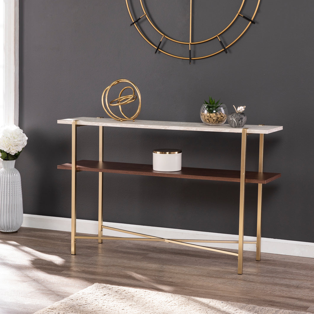 Ardmillan Faux Marble Console Table w/ Storage  -  CK1004903