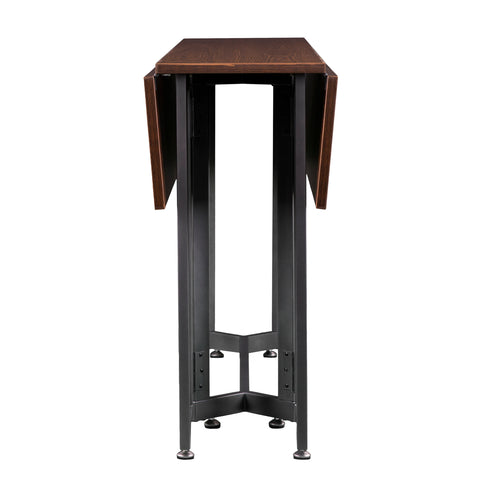 Image of Driness Drop Leaf Table - Dark Tobacco