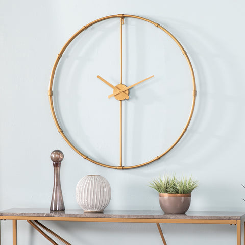 Duzen Large Metal Clock