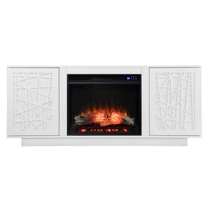 Delgrave Electric Media Fireplace w/ Storage