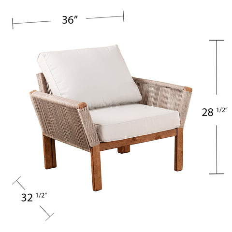 Image of Brendina Outdoor Armchair w/ Cushions