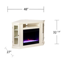 Load image into Gallery viewer, Claremont Color Changing Corner Fireplace - Ivory  -  FC9314