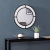 Hurtano Round Faux Stone Mirror