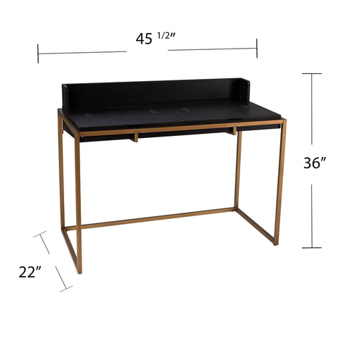 Caldlin Flip-Top Desk w/ Storage