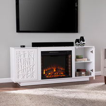 Load image into Gallery viewer, Delgrave Electric Media Fireplace w/ Storage  -  FE1095656