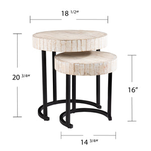 Kennerly Nesting Side Tables – 2pc Set