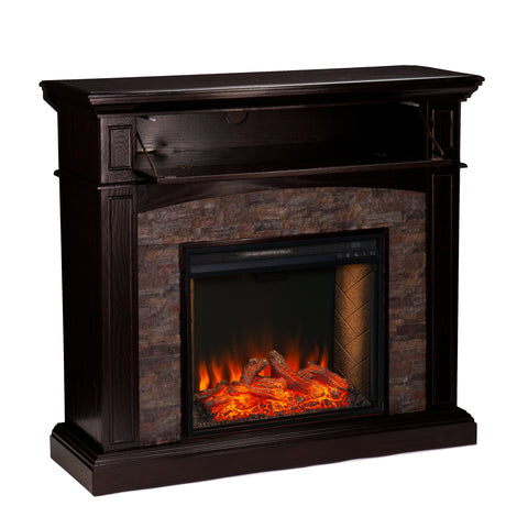 Image of Grantham Alexa Smart Corner Fireplace
