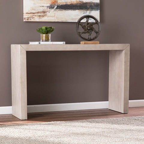 Bletherston Reclaimed Wood Console Table - Gray