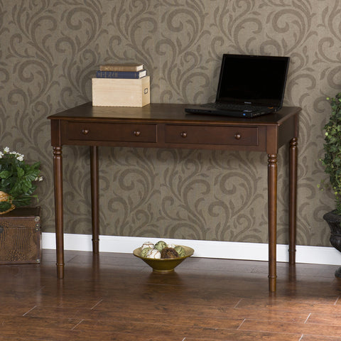 Image of Writing 2-Drawer Desk - Espresso