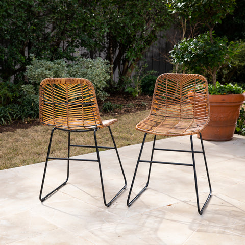 Ragalto Pair of Faux Rattan Outdoor Chairs