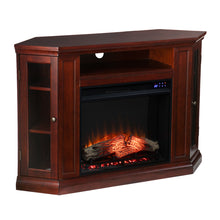 Load image into Gallery viewer, Claremont Electric Corner Fireplace w/ Storage- Cherry  -  FR9310