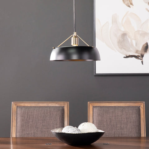 Image of Renmarco Contemporary Pendant Lamp - Black