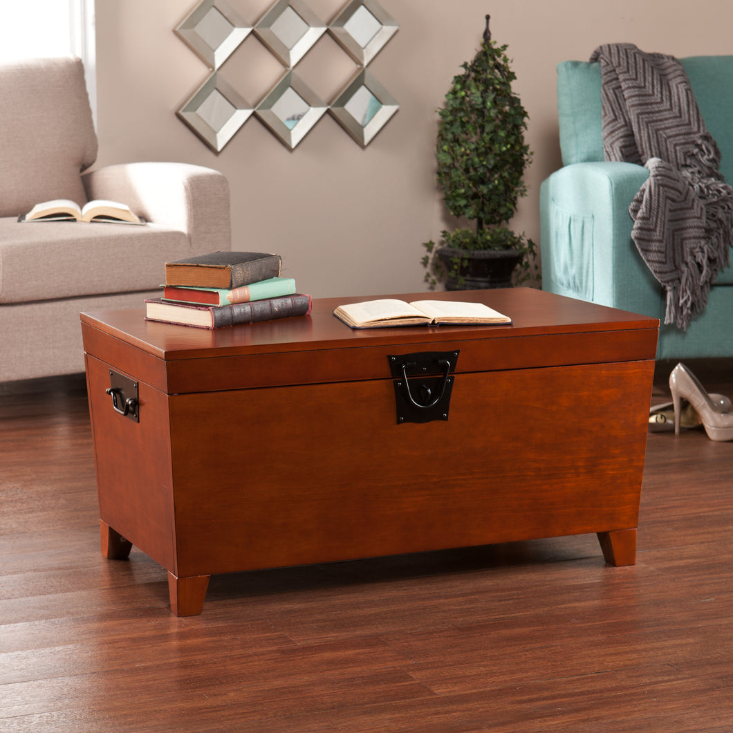 Pyramid Trunk Cocktail Table - Mission Oak  -  CK1224