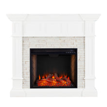 Load image into Gallery viewer, Merrimack Alexa Smart Corner Fireplace – White  -  FS9638