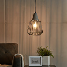 Load image into Gallery viewer, Brayonne Black Cage Pendant Lamp  -  LT6303