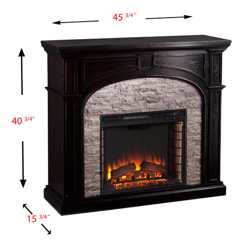 Image of Tanaya Electric Fireplace - Ebony