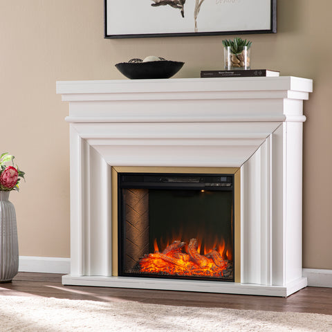 Image of Bevonly Smart Electric Fireplace - White