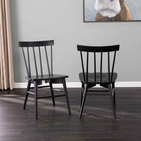 Image of Wendlebury Black Dining Chair Set – 2pc
