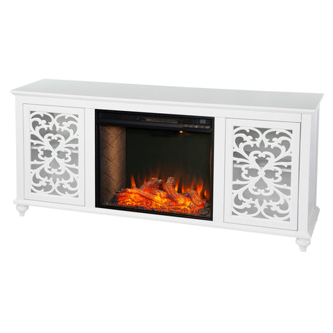 Image of Maldina Smart Electric Fireplace w/ Media Storage
