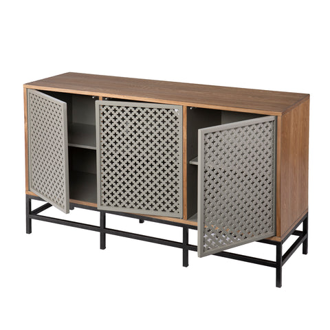 Sulham Modern 3-Door Media Cabinet