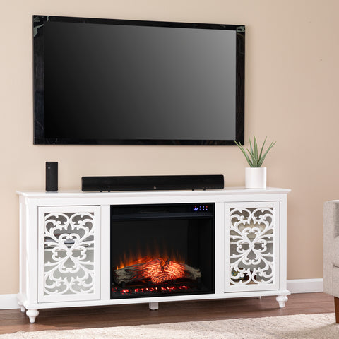 Maldina Electric Fireplace w/ Media Storage
